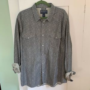 American Rag Navy Patterned Button Down